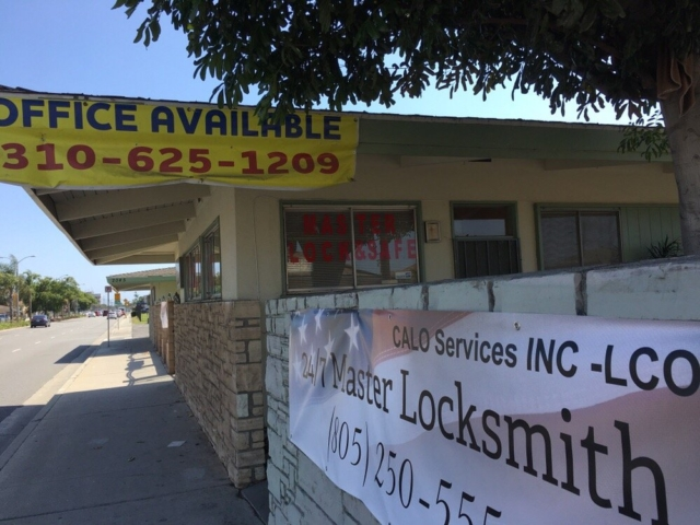 Master Locksmith Outside the Office in Oxnard